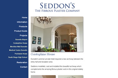 Design of Seddon's website